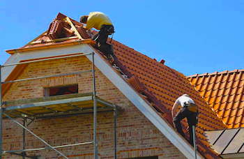 Workers Replacing Roof | Los Angeles Home